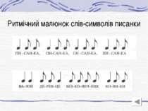 Ритмічний малюнок слів-символів писанки