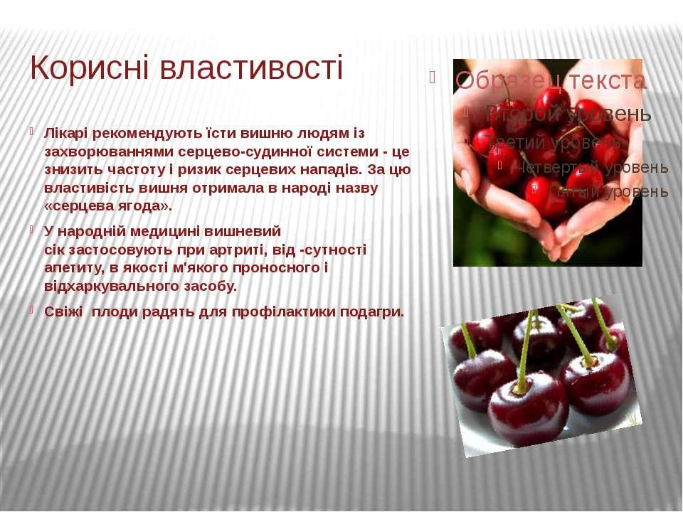 Лікарірекомендують їсти вишню людяміз захворюваннями серцево-судинної систе...