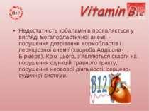 Недостатність кобаламінів проявляється у вигляді мегалобластичної анемії - по...