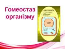 Гомеостаз організму