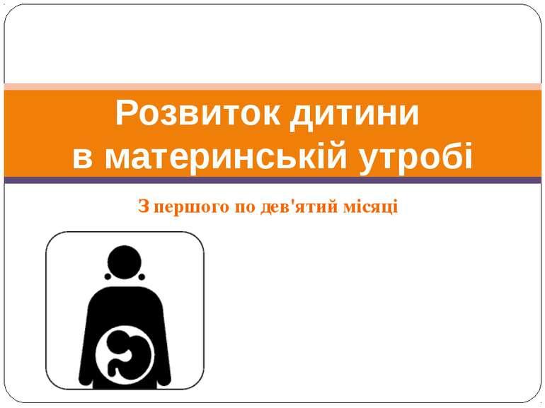 З першого по дев'ятий місяці Розвиток дитини в материнській утробі