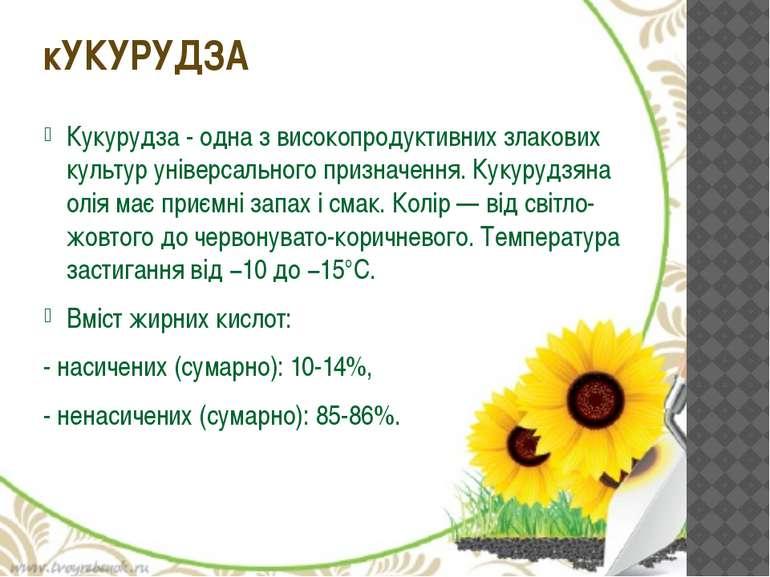 Кукурудза- одна з високопродуктивних злакових культур універсального признач...