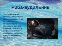 Риба-вудильник Останнім нашим гостем є глибоководна риба-вудильник. У неї на ...