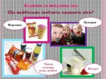 Цукерки Йогурт Чіпси, солодку воду, жуйки Морозиво Корисна та шкідлива їжа Що...