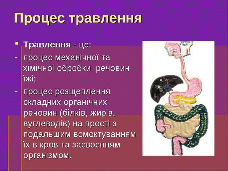 Травлення- це: процес механічної та хімічної обробки речовин їжі; процес роз...