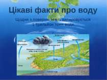 Щодня з поверхні землі випаровується 1 трильйон тонн води. Цікаві факти про воду