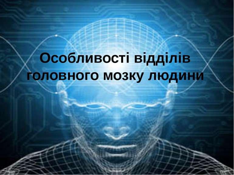 Особливості відділів головного мозку людини