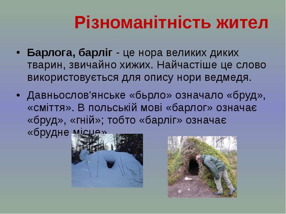 Барлога, барліг - це норавеликих диких тварин, звичайнохижих. Найчастіше це...