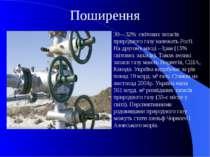 Поширення 30—32% світових запасів природного газу належать Росії. На другому ...