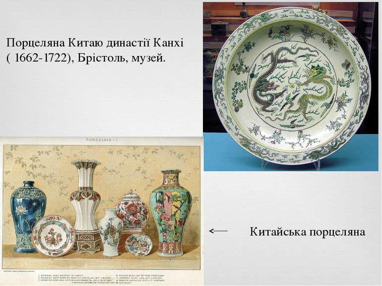 Порцеляна Китаю династії Канхі ( 1662-1722), Брістоль, музей. Китайська порце...