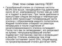 Опис техн схеми синтезу ПЕВТ Газообразный этилен со степенью чистоты 99,8% ил...