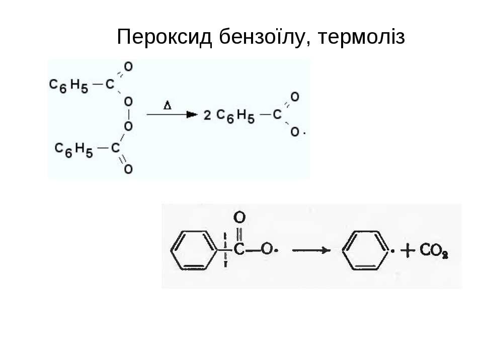 Пероксид бензоїлу, термоліз