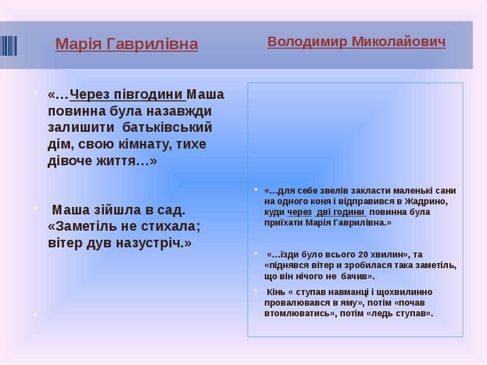 Марія Гаврилівна Володимир Миколайович «…Через півгодини Маша повинна була на...