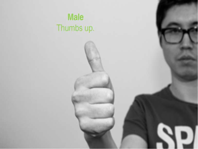 Male Thumbs up.