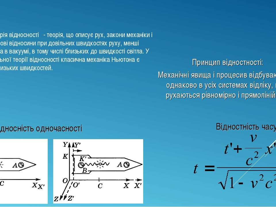 Спеціальна теорія відносності - теорія, що описує рух, закони механіки і прос...