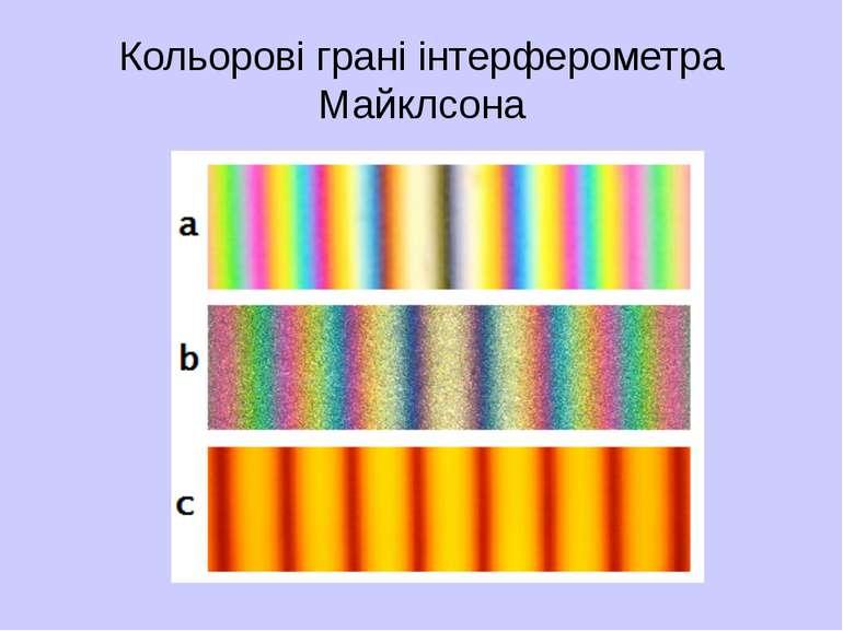 Кольорові грані інтерферометра Майклсона