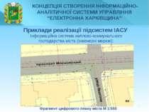 * Фрагмент цифрового плану міста М 1:500 Приклади реалізації підсистем ІАСУ І...