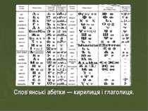 Слов'янські абетки — кирилиця і глаголиця.