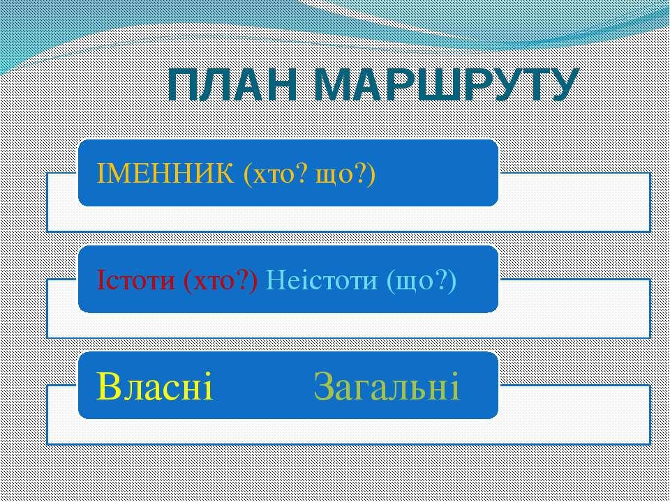 ПЛАН МАРШРУТУ