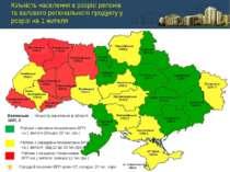 Кількість населення в розрізі регіонів та валового регіонального продукту у р...
