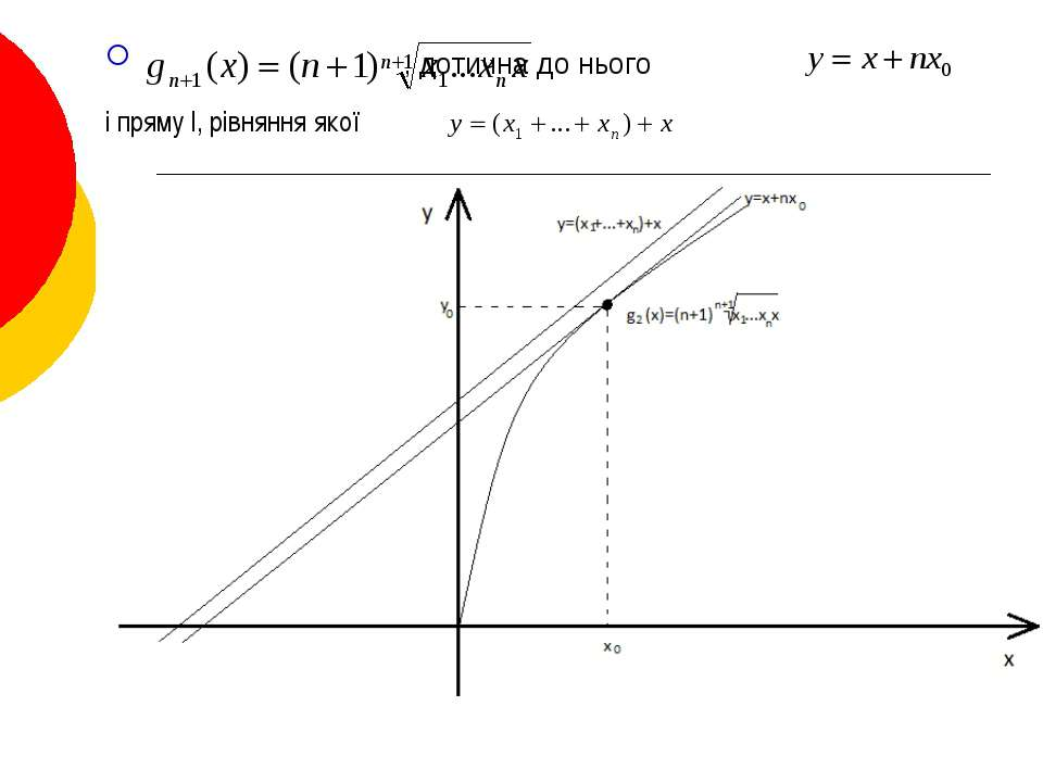 . , дотична до нього і пряму l, рівняння якої