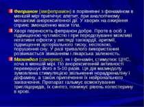 Фепранон (амфепрамон) в порівнянні з фенаміном в меншій мірі пригнічує апетит...