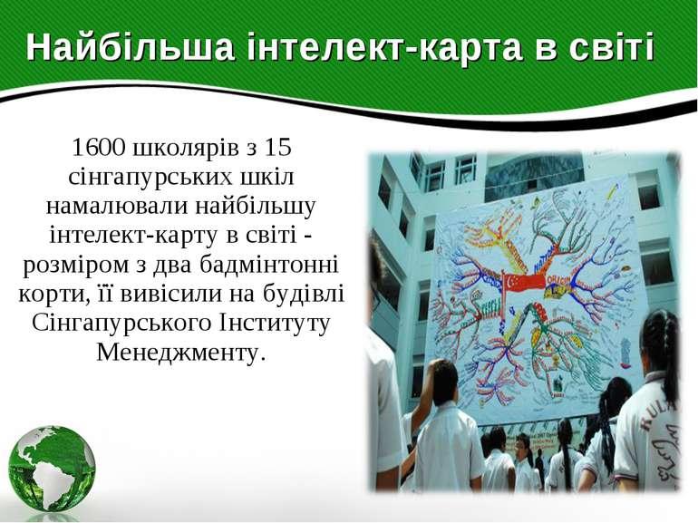 Найбільша інтелект-карта в світі 1600 школярів з 15 сінгапурських шкіл намалю...
