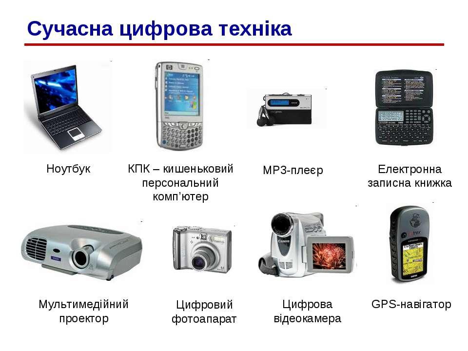 Сучасна цифрова техніка