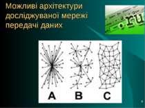* Можливі архітектури досліджуваної мережі передачі даних