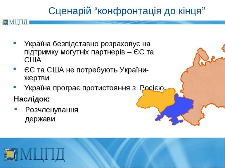 """Сценарій """"конфронтація до кінця"""" Україна безпідставно розраховує на підтримку..."""