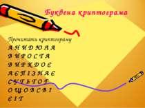 Буквена криптограма Прочитати криптограму А Н И Д Ю Л А В И Р О С Т А В И Р К...
