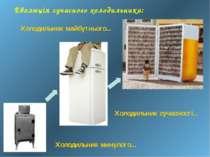 Еволюція сучасного холодильника: Холодильник минулого... Холодильник сучаснос...