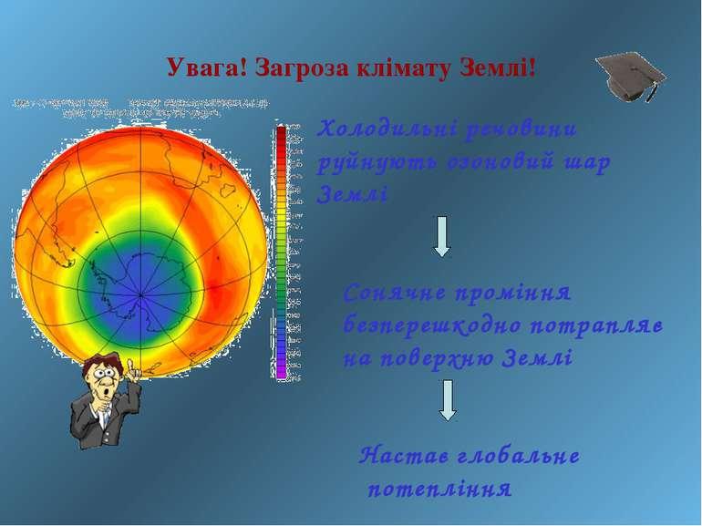 Увага! Загроза клімату Землі!  Холодильні речовини руйнують озоновий шар Зем...