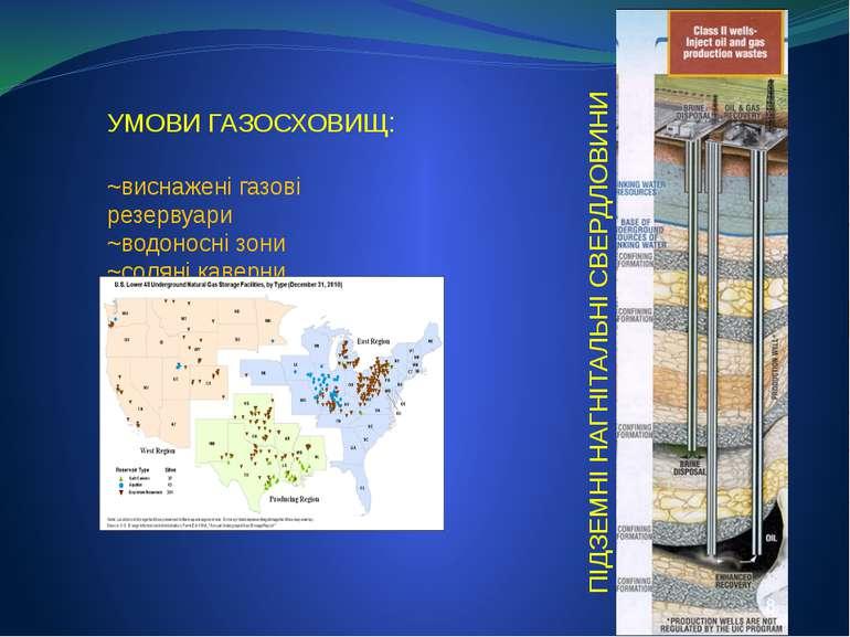 ПІДЗЕМНІ НАГНІТАЛЬНІ СВЕРДЛОВИНИ УМОВИ ГАЗОСХОВИЩ: ~виснажені газові резервуа...