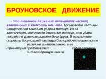 БРОУНОВСКОЕ ДВИЖЕНИЕ - это тепловое движение мельчайших частиц, взвешенных в ...