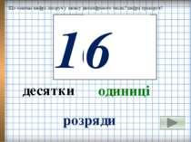 Що означає цифра ліворуч у запису двоцифрового числа? цифра праворуч? 10 6 де...