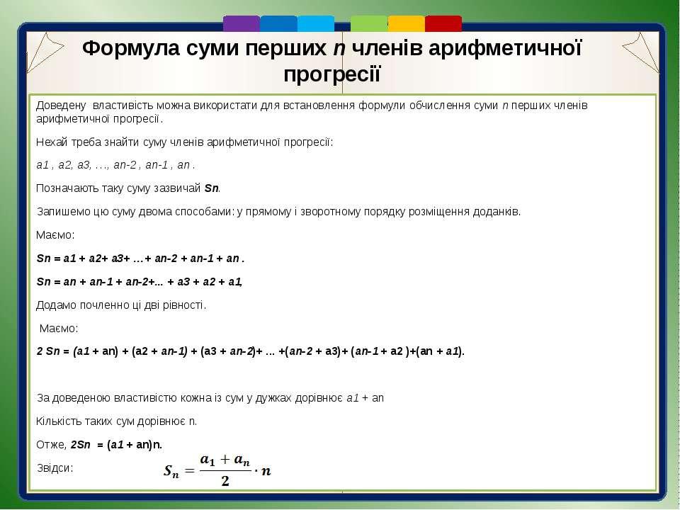 Первинне закріплення вивченого матеріалу 1. В послідовності (хn): 3; 0; -3; -...