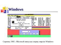 Windows Серпень 1985 : Microsoft випускає першу версію Windows