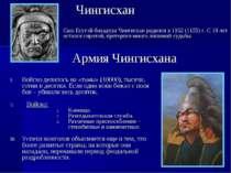 * Сын Есугэй-бахадура Чингиcхан родился в 1162 (1155) г. С 10 лет остался сир...