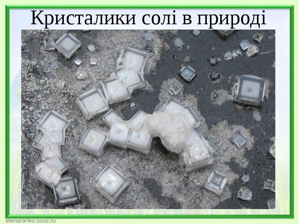Кристалики солі в природі