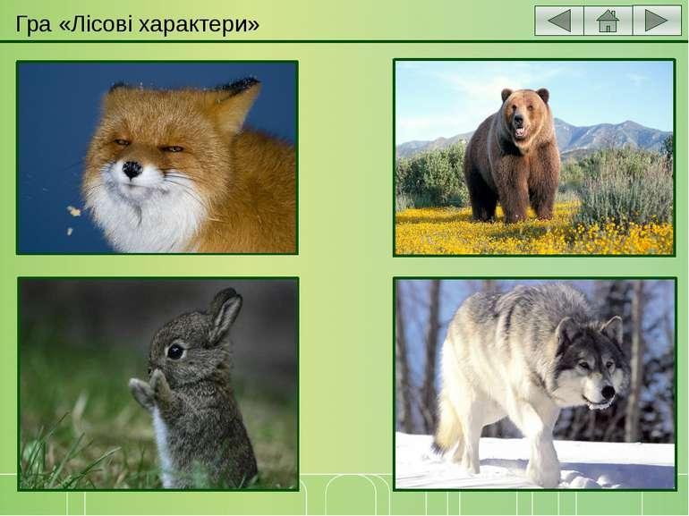 Гра «Лісові характери» Хто у лісі найхитріший? Хто у лісі найсильніший? Хто у...