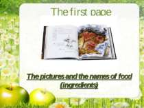 The pictures and the names of food (ingredients) The first page