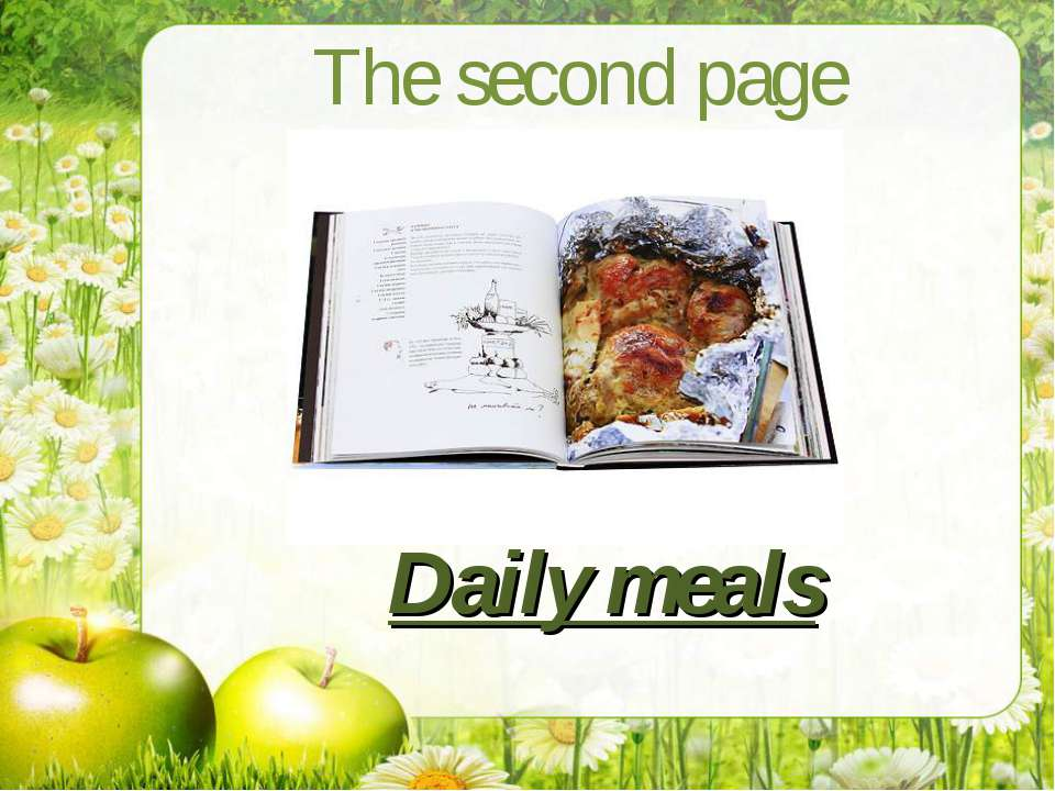 The second page Daily meals