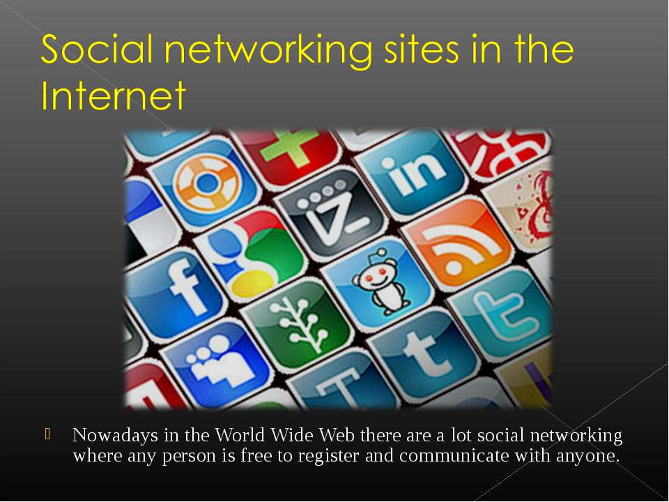 Nowadays in the World Wide Web there are a lot social networking where any pe...