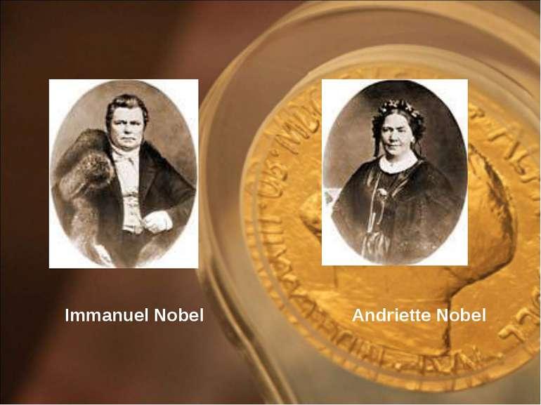Immanuel Nobel Andriette Nobel