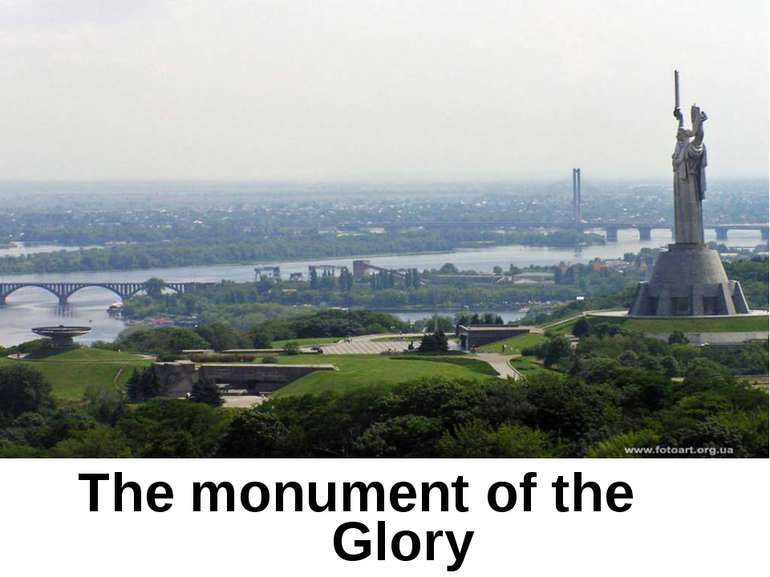The monument of the Glory