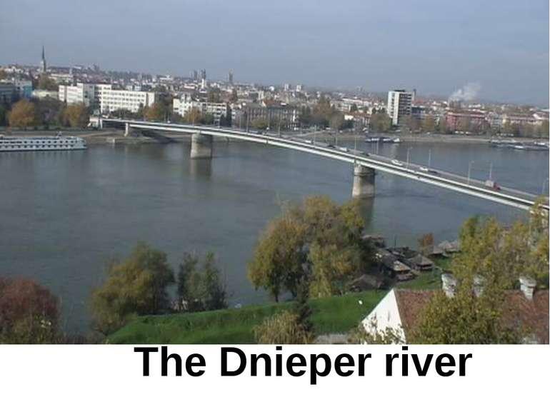 The Dnieper river