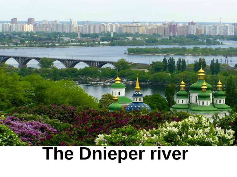 The Dnieper river