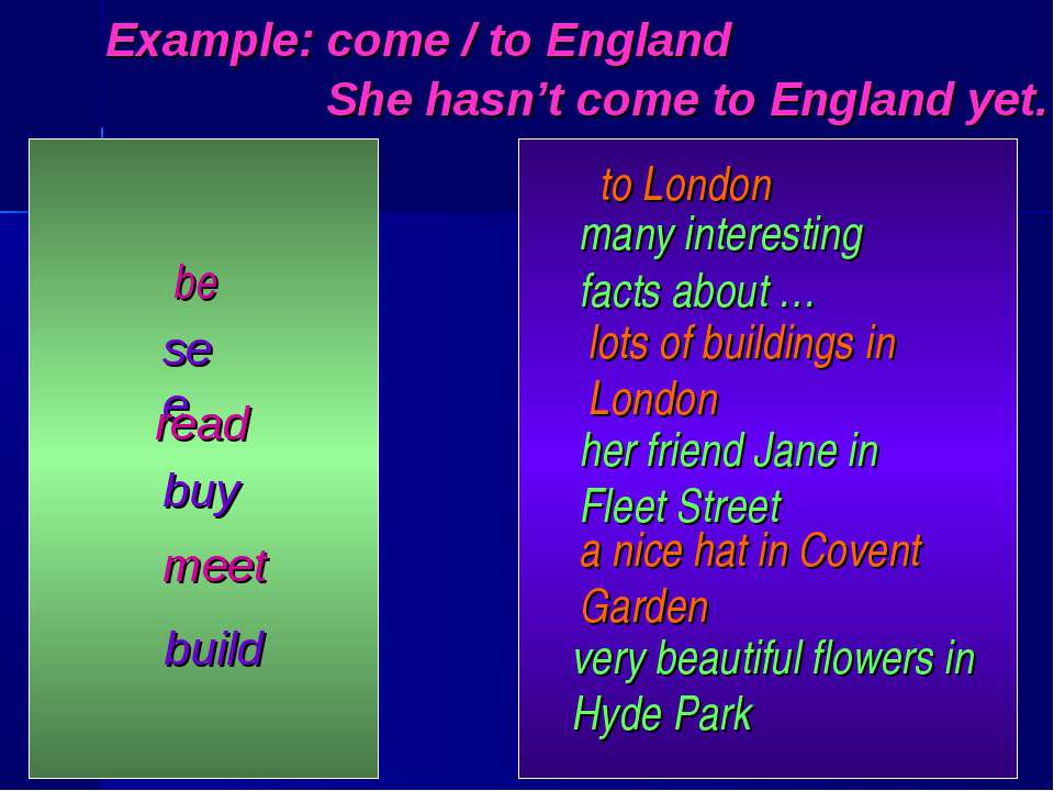be see read buy meet build to London many interesting facts about … lots of b...