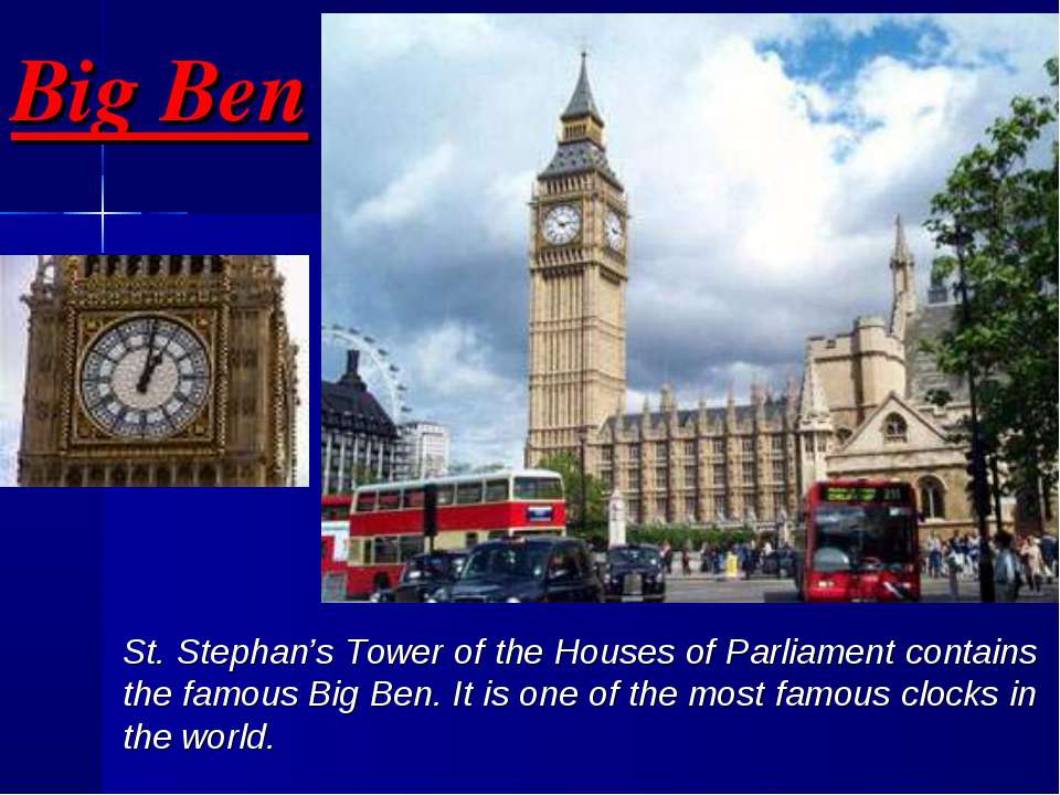 Big Ben St. Stephan's Tower of the Houses of Parliament contains the famous B...